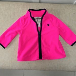 Hot pink zippered fleece